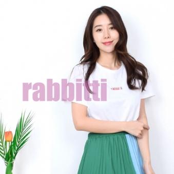 래비티 썸머 셋업 레터링 티셔츠 RBT18TS04 (업체별도 무료배송)