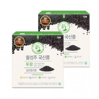 [다다익선] 이롬 황성주 국산콩 두유 검은콩깨쌀 190ml*16입 x 2박스