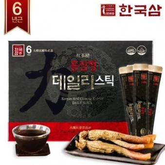 한국삼 홍삼정 데일리 스틱 10g x 30포+쇼핑백증정 (업체별도 무료배송)