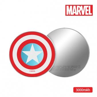 마블 캡틴아메리카 원형 보조배터리 3000mAh (업체별도 무료배송)