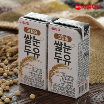 서울우유 고칼슘 쌀눈두유 190ml*40팩 (업체별도 무료배송)