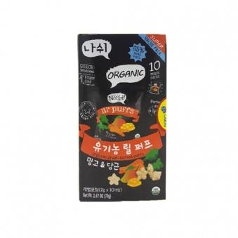[1+1] 나쉬 유기농 릴퍼프 망고 & 당근 70g (7g*10개입) (업체별도 무료배송)