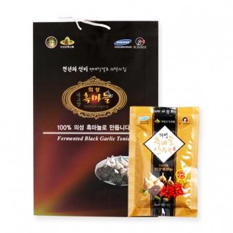 의성 흑마늘 산수유 진액 선물용 60ml *30포 (업체별도 무료배송)