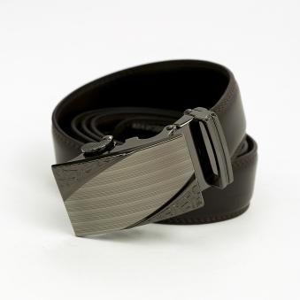 로스보 브라운 자동버클 가죽 벨트(125cm) (업체별도 무료배송)