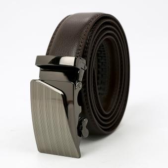 에이튼 브라운 자동버클 가죽 벨트(130cm) (업체별도 무료배송)