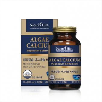 [네이쳐스힌트] 해조칼슘 마그네슘 & 비타민D 800mg*90캡슐 (업체별도 무료배송)