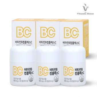[비타민하우스] (리)비타민B컴플렉스C 3병 (업체별도 무료배송)