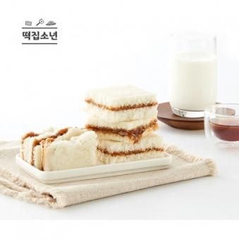 100%국산 떡집소년 우유 백설기케이크(꿀설기맛) 80g*10개 (업체별도 무료배송)