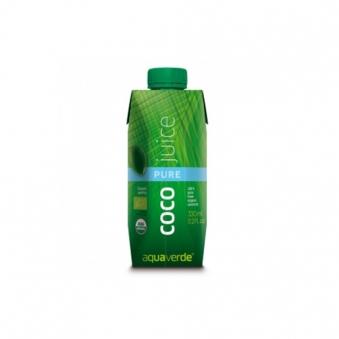 아쿠아베르데 퓨어 유기농 코코넛주스 330ml x 12개 (업체별도 무료배송)