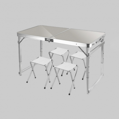세피로 접이식 의자 캠핑테이블 세트(실버) (업체별도 무료배송)