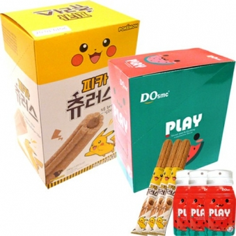 [다다익선] 플레이캔디 수박맛 16g x 15봉 + 피카츄러스 12입 (업체별도 무료배송)