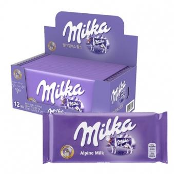 [다다익선] [동서] 밀카 알프스 밀크 100g x 12입 (업체별도 무료배송)