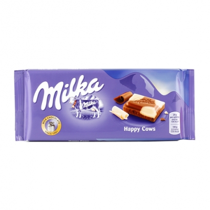 [마감세일] 밀카 초콜릿 해피카우 100g x 23입 (업체별도 무료배송)