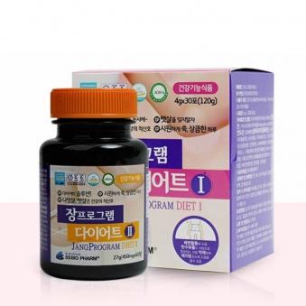 장프로그램 다이어트1(4g*30포)+다이어트2(450mg*60정) (업체별도 무료배송)