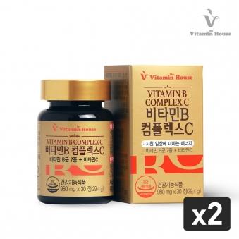 [비타민하우스] 비타민B컴플렉스C*2병(980mg*30정) (업체별도 무료배송)
