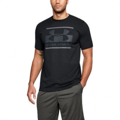 [언더아머] 남성 블록 스포츠스타일 티셔츠 블랙 1305667-001 (업체별도 무료배송)
