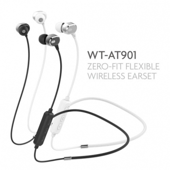 Welle 플랙시블 넥밴드 블루투스 WT-AT901 (업체별도 무료배송)