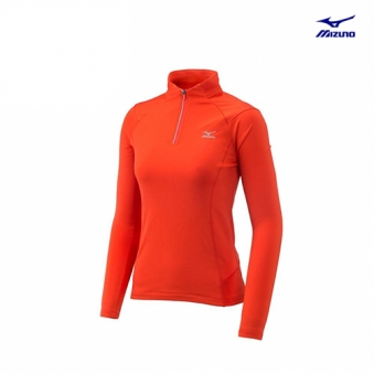 [추가인하] [미즈노] 여성 하프집업 긴팔 티셔츠 MZ-32YA672089-00 (업체별도 무료배송)