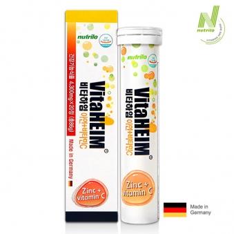 비타하임 발포비타민 아연+비타민C (4,300mg*20정입) x 20개 (업체별도 무료배송)