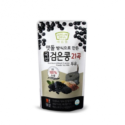 [아름뜰] 국산콩 100% 맷돌방식으로 만든 국산 검은콩 21곡 두유 180ml*15입 x 3박스 (총 45입) (업체별도 무료배송)