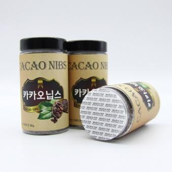 페루산 100% 카카오닙스통 180g x 2개 (업체별도 무료배송)