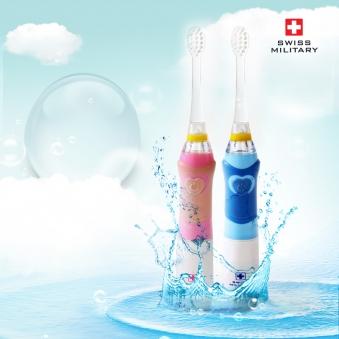 스위스 밀리터리 아동용 음파 전동칫솔 SMA-KD1600B(블루), SMA-KD1600P(핑크) (업체별도 무료배송)