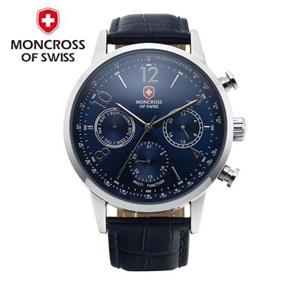 [떠리몰감사제] [스위스 몽크로스] MS6001 남성손목시계 BLACK/BLUE/BROWN/WHITE 택1 (업체별도 무료배송)