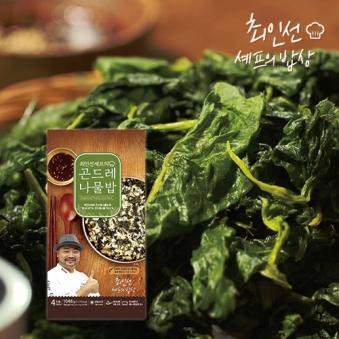 [다다익선] 최인선셰프의 곤드레나물밥 262g x 4팩 (소스포함) (업체별도 무료배송)