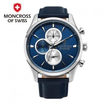 [스위스 몽크로스] MS3891 남성손목시계 BLUE/BROWN 택1 (업체별도 무료배송)