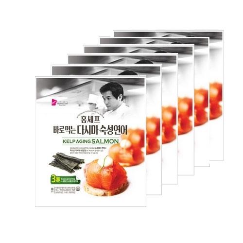 [재입고/구성변경] [에드워드권 홈셰프] 바로먹는 다시마 숙성연어 100g x 6팩+ 너비아니 1팩 (업체별도 무료배송)