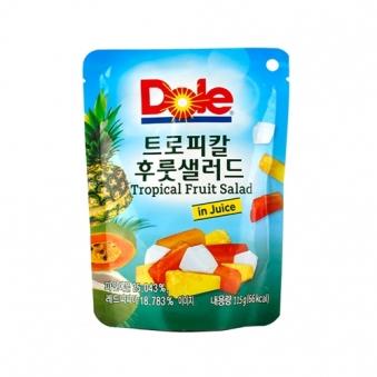 Dole 트로피칼 후룻 샐러드 파우치 115g x 48개 (업체별도 무료배송)