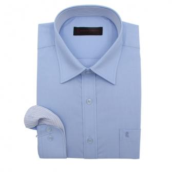 로베르따 일반핏 블루 무지 긴소매 셔츠 RA0304_2(블루) (업체별도 무료배송)
