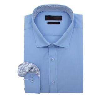 로베르따 슬림핏 블루 무지 긴소매 셔츠 RA0354_2(블루) (업체별도 무료배송)