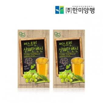 [1+1] 퍼스트빈 상쾌한 변신 맛있는 청포도맛 10g*14포 (업체별도 무료배송)