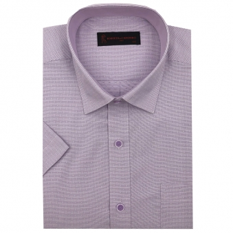 로베르따 일반핏 바이올렛 도비 반소매 셔츠 RI2402_4(바이올렛) (업체별도 무료배송)