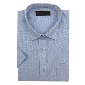 로베르따 일반핏 블루 체크 반소매 셔츠 RI2405_2(블루) (업체별도 무료배송)