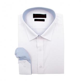 [로베르따] 슬림핏 화이트 무지 긴소매 셔츠 RR0354_1(화이트) (업체별도 무료배송)
