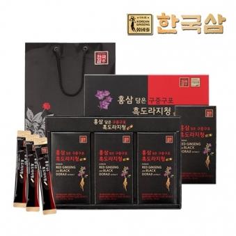 홍삼담은 구증구포  흑도라지청 10ml * 30포 (업체별도 무료배송)