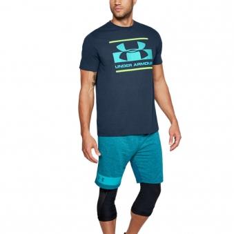 [언더아머] 남성 블록 스포츠스타일 티셔츠 그린 1305667-408 (업체별도 무료배송)