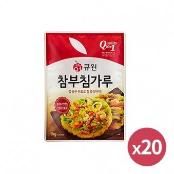 [다다익선][큐원] 참부침가루 500g * 20개 (업체별도 무료배송)