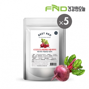 FND건강한오늘 제주 레드비트 분말 1kg (200g x 5팩) (업체별도 무료배송)