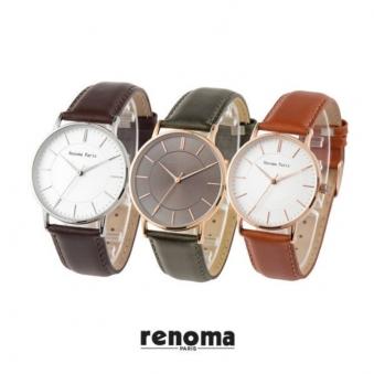 [레노마] RE-455 가죽시계 (업체별도 무료배송)