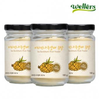 웰러스 비타민나무열매 분말 100g x 3통 (업체별도 무료배송)