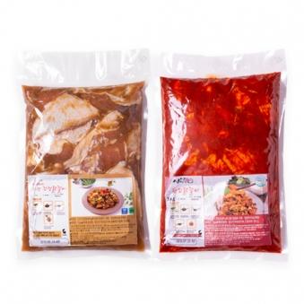 신선 한입닭갈비1kg+신선 간장닭갈비1kg (업체별도 무료배송)