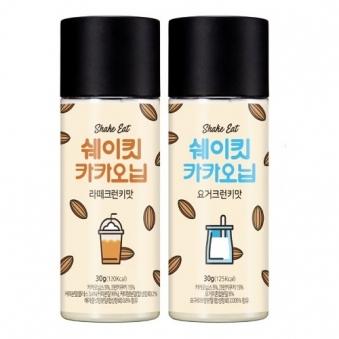 [다다익선] 쉐이킷카카오닙 라떼크런키맛 3개 + 요거크런키맛 3개 (업체별도 무료배송)
