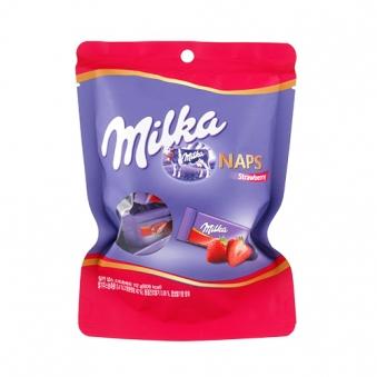 [주말특가] 밀카 냅스 스트로베리 초콜릿 112g
