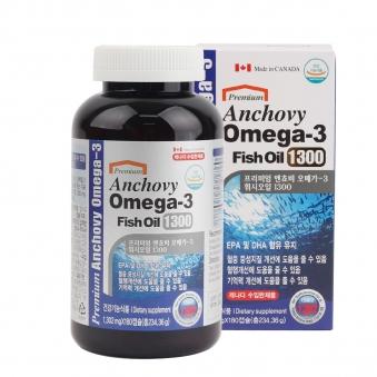 캐나다 프리미어 엔쵸비 오메가-3 피쉬오일1300 1,302mg*180캡슐 (업체별도 무료배송)