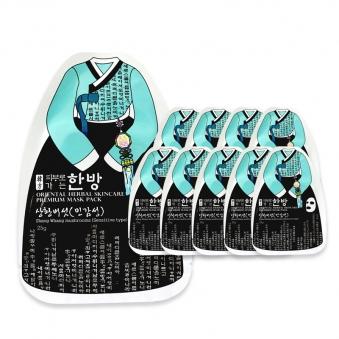 [다다익선] 피부로 가는 한방 마스크팩 10매 상황버섯(민감형) (업체별도 무료배송)