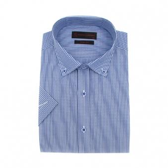 [로베르따] 슬림핏 블루 스트라이프 반소매 셔츠 RH2463_2(블루) (업체별도 무료배송)