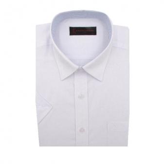 [로베르따] 일반핏 화이트 레이온 무지 반소매 셔츠 RR2303_1(화이트) (업체별도 무료배송)
